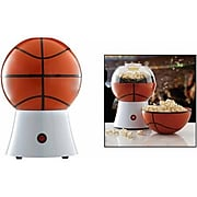 Brentwood 1200 W Basketball Popcorn Maker; White