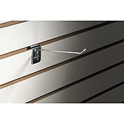 "FFR Merchandising® 7 Gauge Metal Slatwall Hook With Ball End, 8""L"