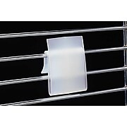 "FFR Merchandising® Polypropylene WC-9 Power Wing Clip™, 2"" x 1"", Natural, 60/Pack"