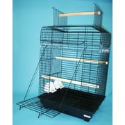 YML Open Play Top Small Parrot  Bird Cage; Black