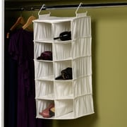 Household Essentials Double Hang 10-Compartment Hanging Shoe Organizer