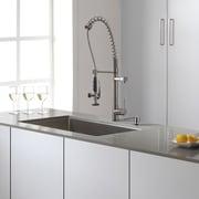 Kraus Stainless Steel 30'' x 16'' Undermount Kitchen Sink w/ Faucet and Soap Dispenser
