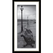 Star Creations ''Bench on the Boardwalk'' Framed Photographic Print