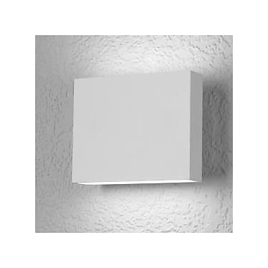 LumenArt Alume 1-Light Outdoor Flush Mount; Black