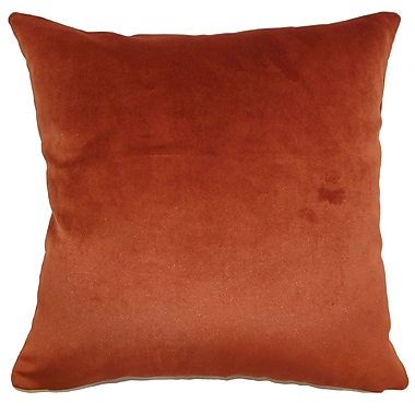 The Pillow Collection Juno Plain Velvet Throw Pillow; 18'' x 18''