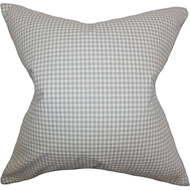 The Pillow Collection Xandy Plaid Cotton Throw Pillow; 18'' x 18''
