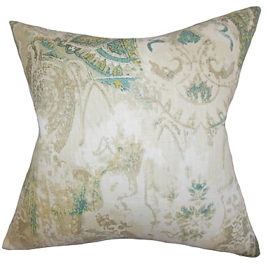 The Pillow Collection Havilah Floral Linen Throw Pillow; 20'' x 20''