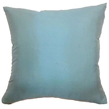 The Pillow Collection Agnieska Plain Silk Throw Pillow; 18'' x 18''
