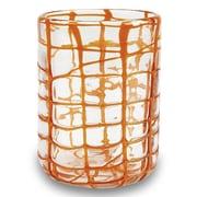 IMPULSE! Abstract Rocks Glass (Set of 4); Orange
