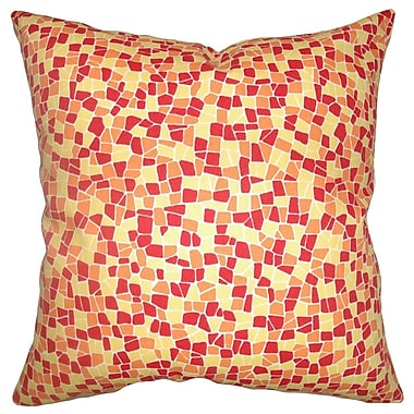 The Pillow Collection Bentlee Mosaic Tile Cotton Throw Pillow; 18'' x 18''