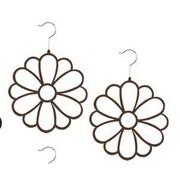 Home Basics Flower Flocked Scarf Hanging Organizer; Brown