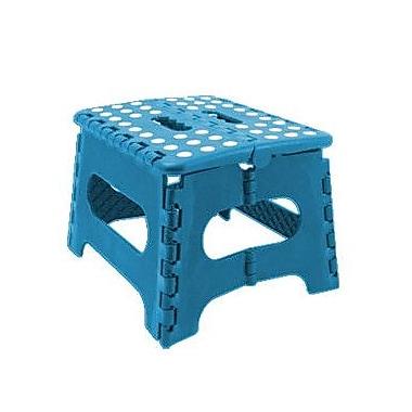 Home Basics Medium Folding Stool; Blue