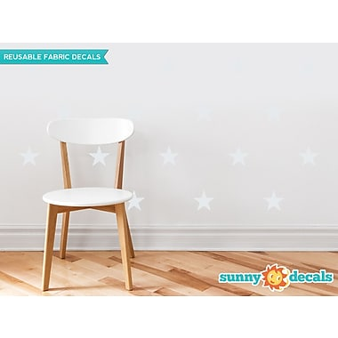 Sunny Decals Stars Wall Decal (Set of 30); Light Gray