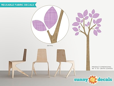 Sunny Decals Modern Tree Wall Decal; Purple