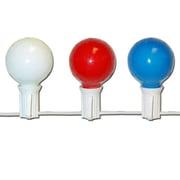 PennDistributing 10 Light Patriotic Globe Set