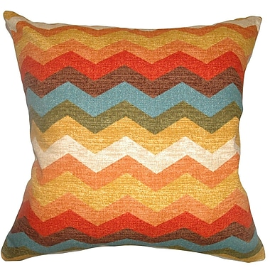 The Pillow Collection Gail Zigzag Cotton Throw Pillow; 20'' x 20''