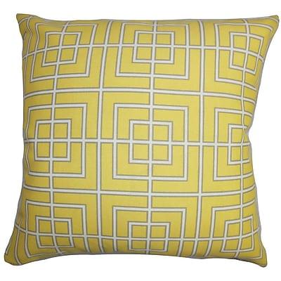 The Pillow Collection Sanaa Geometric Outdoor Throw Pillow; 18'' x 18''