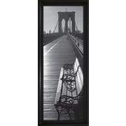 Star Creations ''Brooklyn Bridge Benches'' Framed Photographic Print