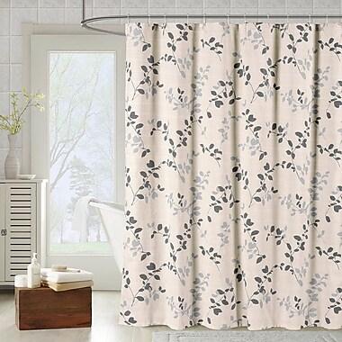 Bath Studio Meridian Printed Cotton Blend Shower Curtain; Harbor Gray