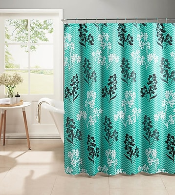 Bath Studio Diamond Weave Textured Shower Curtain Set; Turquoise