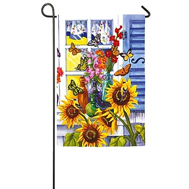 Evergreen Enterprises, Inc Butterfly Window 2-Sided Garden Flag