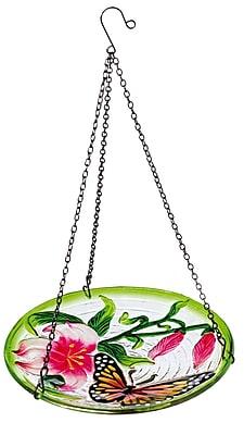 Evergreen Enterprises, Inc Fluttering Butterfly Hanging Birdbath WYF078278435043