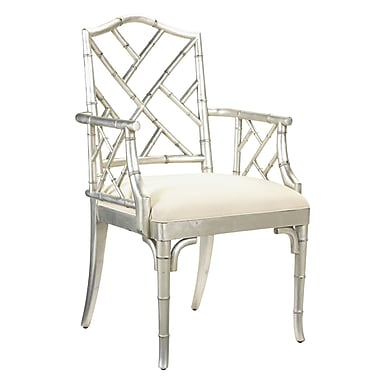 French Heritage Pyrenees Solid Wood Dining Chair; Silver