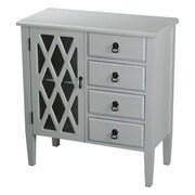Heather Ann 4 Drawer Cabinet; Grey
