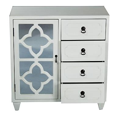 Heather Ann 4 Drawer Accent Cabinet; White