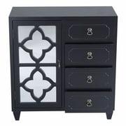 Heather Ann 4 Drawer Cabinet; Black