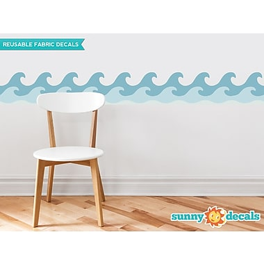Sunny Decals Wave Border Wall Decal (Set of 2); Vintage Blue