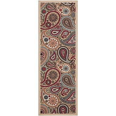 Ottomanson Blume Beige Area Rug; Rectangle 2'7'' x 10'
