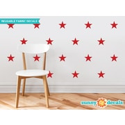 Sunny Decals Stars Wall Decal (Set of 30); Red