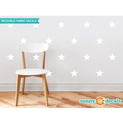 Sunny Decals Stars Wall Decal (Set of 30); White