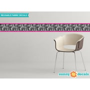 Sunny Decals Zebra Border Wall Decal (Set of 2); Pink