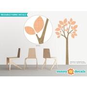 Sunny Decals Modern Tree Wall Decal; Orange