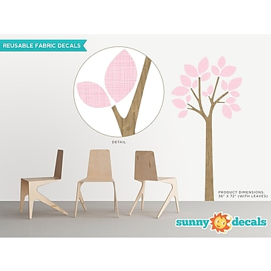 Sunny Decals Modern Tree Wall Decal; Pink