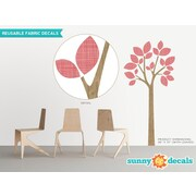 Sunny Decals Modern Tree Wall Decal; Red