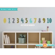 Sunny Decals 11 Piece Modern Numbers Wall Decal Set; Orange/Gray/Turquoise