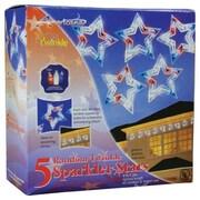 PennDistributing 5 Twinkling Patriotic Stars