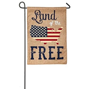 Evergreen Enterprises, Inc Land of the Free Garden Flag