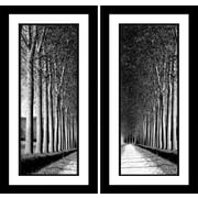 Star Creations ''Oak Lane'' 2 Piece Framed Photographic Print Set on Paper
