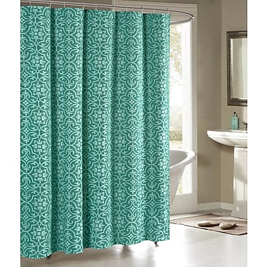 Bath Studio Allure Shower Curtain; Teal