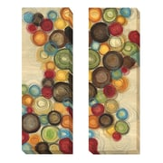 Artistic Home Gallery 'Wednesday Whimsy' by Jeni Lee 2 Piece Painting Print on Wrapped Canvas Set