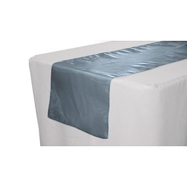 LA Linen Sheer Organza Table Runner; Navy Blue
