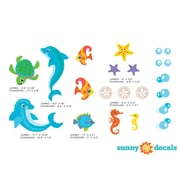 Sunny Decals Dolphin Wall Decal; Standard
