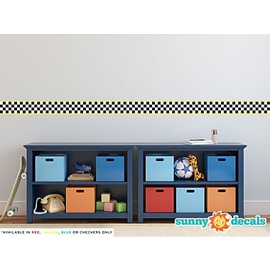 Sunny Decals Racing Stripe Border Wall Decal (Set of 2); Yellow