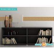Sunny Decals Greek Key Border Wall Decal (Set of 2); Brown