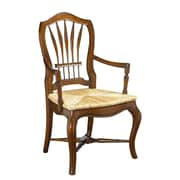 French Heritage Provence Solid Wood Dining Chair; Cherry
