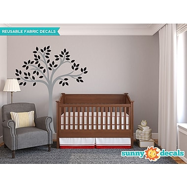 Sunny Decals Beautiful Tree Wall Decal; Black